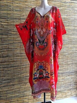 Embelished caftan.Maxi length.Non see thru.Suit many sizes.Very good quality.new