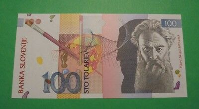 Nice & Colourful Unc Banknote From Slovenia