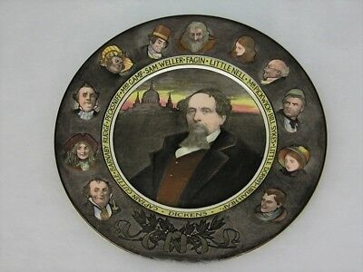 Royal Doulton D6306 Charles Dickens Portrait Collectors Plate Characters on rim