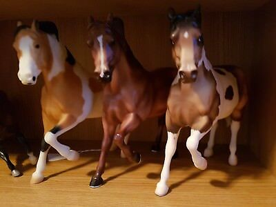 "Breyer lot of 3 traditional Cody Ranch horses! ""Buster"", Paint and Chestnut"