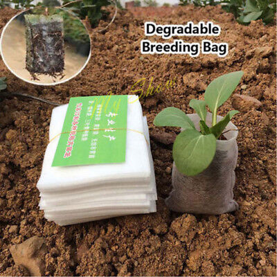100pcs Fabric Pots Root Container Plant Pouch Grow Seeding Bag Container