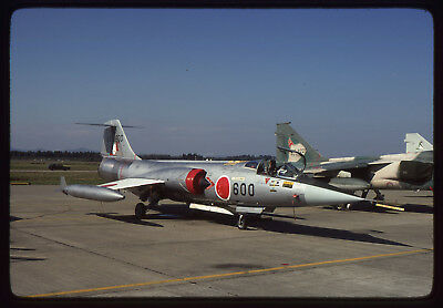 Original K'chrome aviation slide JASDF F-104J 46-8600 203sqn 10.1981 Hyakuri AB