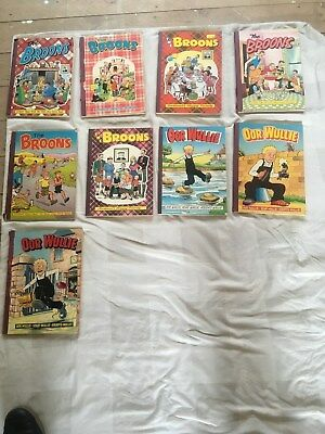 The Broons and oor Willie Scottish Cartoon Annuals job lot