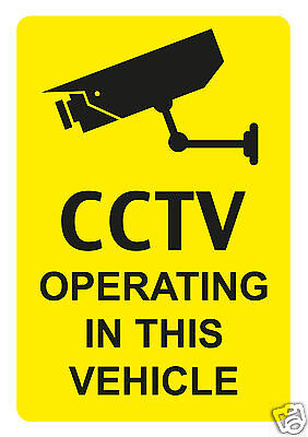 Cctv Operating In This Vehicle Warning Stickers, Recording Warning Sticker, Cctv