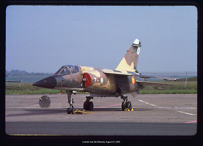 Original K'chrome aviation slide Spanish AF Mirage F-1CE C.14-23 141-49 5.1986