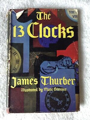 First Edition Vintage The 13 Clocks Children's HB Book James Thurber