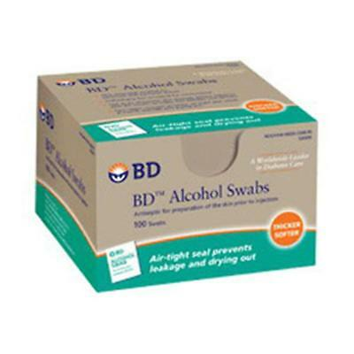 NEW BECTON DICKINSON 7391ze1 1 BX/100 EA Alcohol Swab, Foil Wrapped (100 count)
