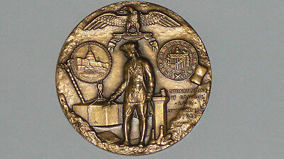 138,5 Gr schwere Bronze 1793 SOCIETY MEDAL CORNERSTONE OF CAPITOL EXTREM SELTEN
