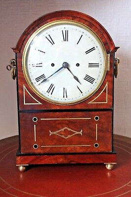 mahogany double fusee bracket clock