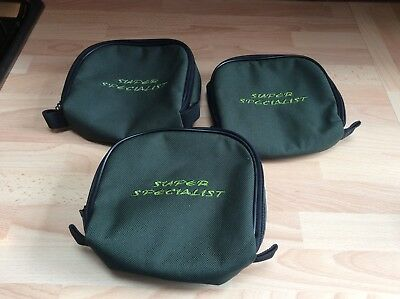 Drennan Super Specialist Small Reel Cases X3 Used Course Fishing Luggage