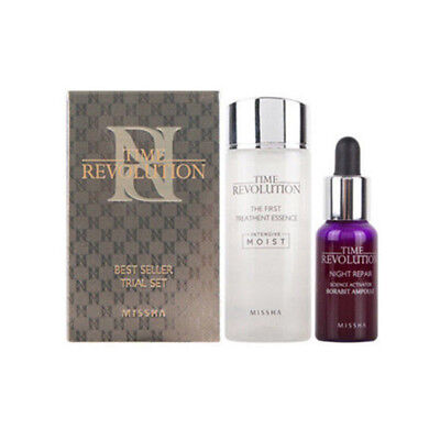 [missha] Time Revolution Best Seller Trial Set ,Essence 30ml +Ampoule 10ml