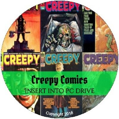 Creepy Comics Collection - 146 PDF Supernatural Monsters Horror e-Comics on DVD
