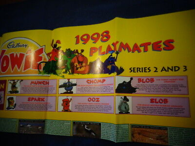 Yowie Yowies,* POSTER *CADBURY YOWIES SERIES 2 & 3 PLAYMATES * FULL SIZE POSTER