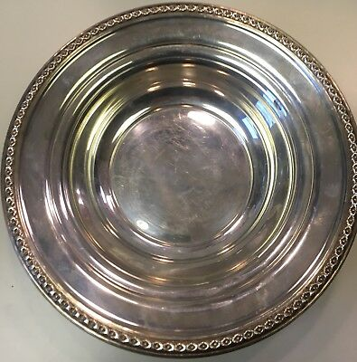 Rogers Sterling Dish Bowl Rope Design 3070