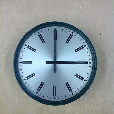 Green Bakelite smiths school clock 1968
