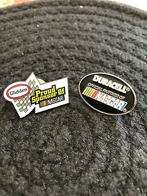 Duracell NASCAR lapel Pin And NASCAR Glidden Paint Lapel Pin