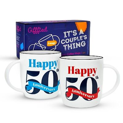 50th Anniversary Coffee Mugs Gifts 50 Golden Parents Grandparents Anniversary