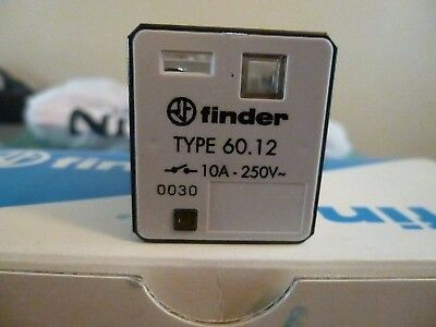 TWO (1) Finder 60.12.8.024.0030  RELAY 10A 250V DPDT -- BRAND NEW