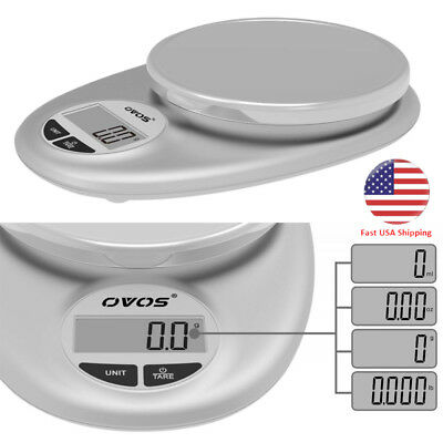 Electric Digital Stainless Steel Kitchen Scale Back-Lit LCD Display Food Scale
