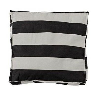 Bloomingville Seat Cushion Stripes Black Beige with Filling 50x50 Chair Ges