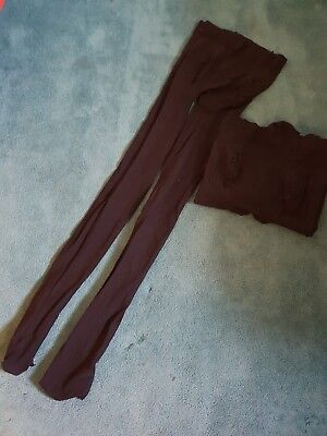 2 Pairs Black Maternity Tights. New Look Size 12
