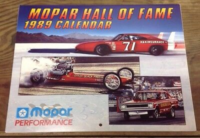 MOPAR Performance Hall of Fame 1989 Calendar With Original Envelope