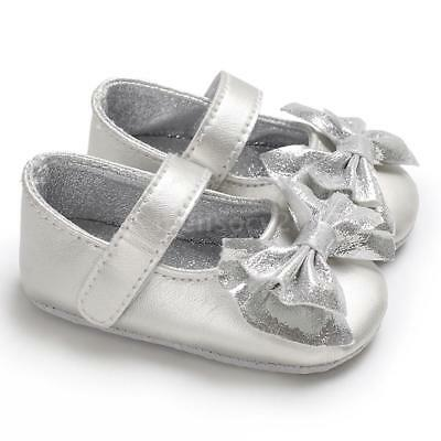 Newborn Baby Girls Shoes Soft Sole Non-Slip PU Leather Sandal Toddler H8S0