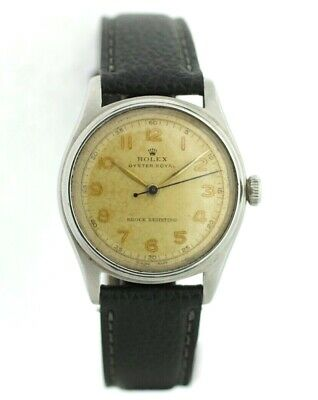Vintage Rolex Oyster Royal Aged Arabic Dial Stainless Hand Wind Unisex Watch