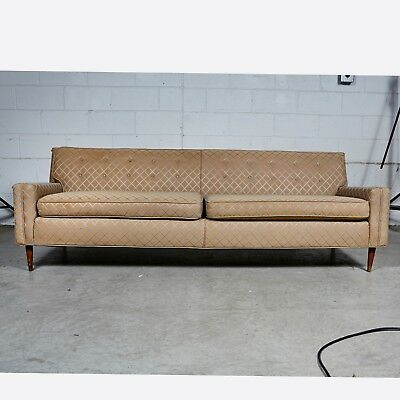 VINTAGE MID CENTURY Modern Low Back Couch Sofa Sold As Is ...