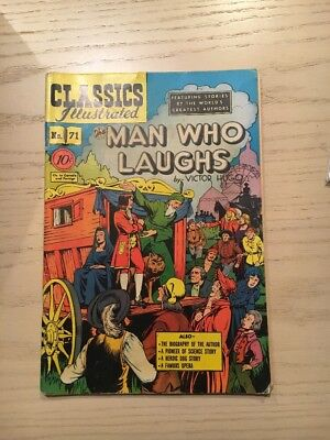 Classics Illustrated  71 Gilberton Comic Book HRN 71 1st Pt. Man Who Laughs!