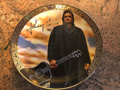 "RAREJohnny Cash Limited Edition Collectible Plate - J.F. Martin - 8"" in Diameter"