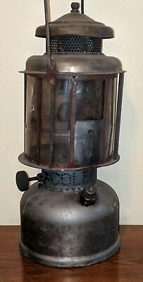Antique Coleman Quick Lite Lantern Mica Shade Nickel Plated as is