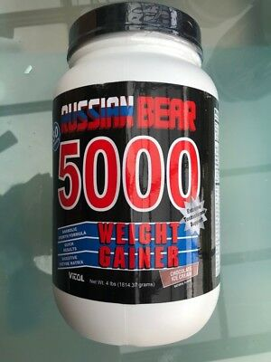Vitol Russion Bear Weight Gainer 5000 Ice Cream Chocolate Flavor 4 Pound