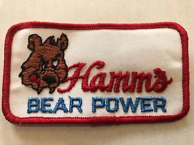 Vintage Patch NOS Hamm's Beer Bear Power 70s  Funny Rat Hot Rod Muscle Car