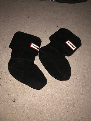 Black Toddler Hunter Wellie Socks Size Small 7-9 Hardly Worn Great Condition