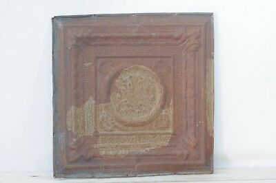 Antique Pressed Tin Ceiling Tile Decorative Metal Ceiling Wall Art Salvage #2