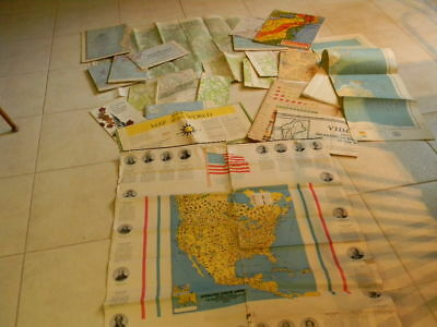 Lot of Old Vintage Maps National Geographic, Topographic, School Poster, Nystrom