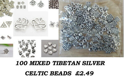 Tibetan Silver Beads, Spacers, Celtic Beads, metal Beads, pendants, charms