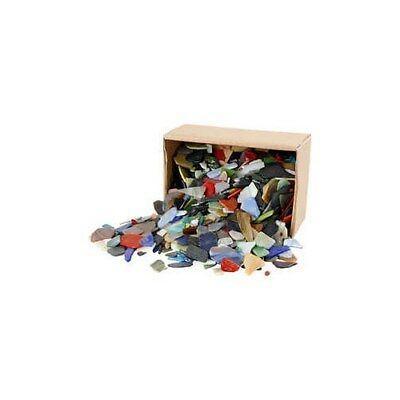Mosaics, size 15-60 mm, thickness 5 mm, asstd colours, Asst'd Colours, 2kg [HOB-