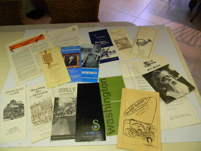 Lot Vintage Travel Brochures 1960's & 70's Virginia, Maryland