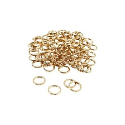Split Ring, D: 15 mm, gold-plated, 100pcs [HOB-52607]