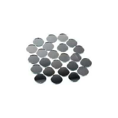 Mirror Mosaic Tiles, D: 18 mm, thickness 2 mm, round, 400pcs [HOB-52295]