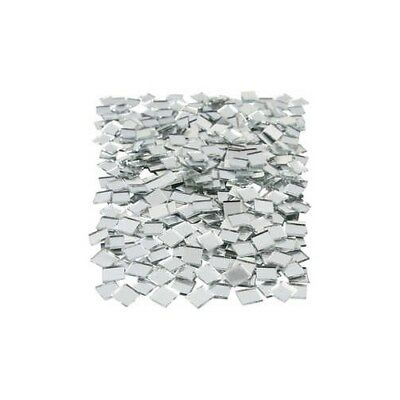 Mirror Mosaic Tiles, size 10x10 mm, thickness 2 mm, Square, 500pcs [HOB-52293]