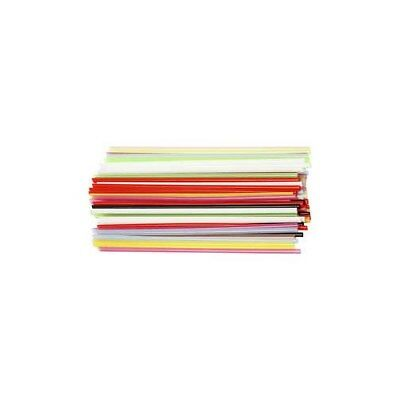 Construction Straw, L: 12,5 cm, D: 3 mm, asstd colours, 3200mixed [HOB-51931]