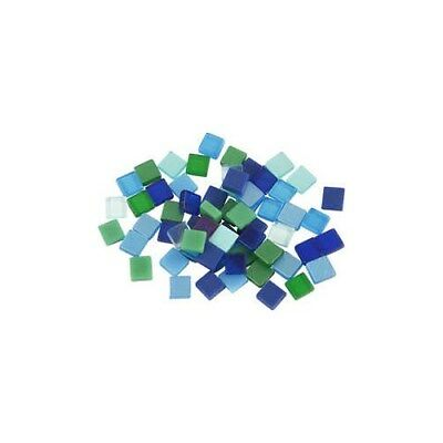 Mini Mosaic, size 5x5 mm, thickness 2 mm, blue/green harmony, 25g [HOB-51929]