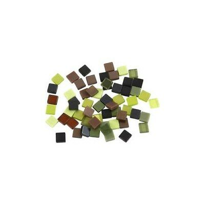 Mini Mosaic, size 5x5 mm, thickness 2 mm, green harmony, 25g [HOB-51926]