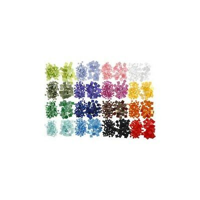 Mini Mosaic, size 5x5+10x10 mm, thickness 2 mm, excluding assortment box, 32x25g