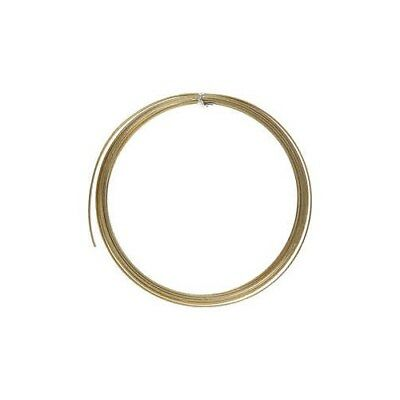 Aluminium Wire, W: 3,5 mm, thickness 0,5 mm, gold, flat, 4,5m [HOB-518344]