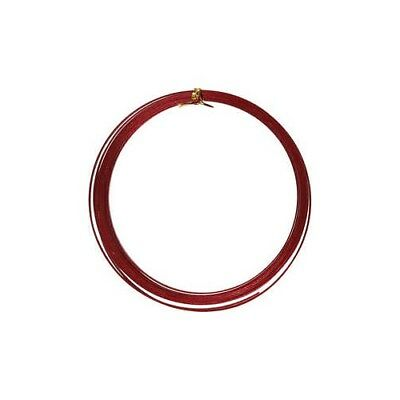 Aluminium Wire, W: 3,5 mm, thickness 0,5 mm, red, flat, 4,5m [HOB-518343]