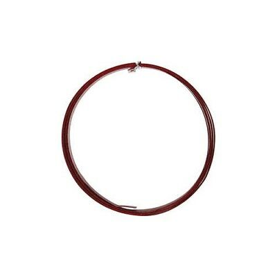 Aluminium Wire, W: 15 mm, thickness 0,5 mm, red, flat, 2m [HOB-518333]